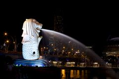 Merlion Royaltyfri Bild