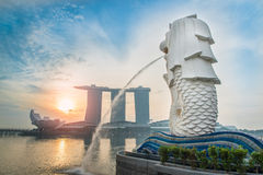 Merlion Photographie stock libre de droits