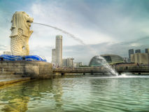 Merlion At Sunrise Royalty Free Stock Images