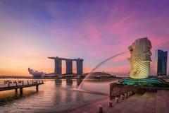 Merlion en Singapur Imagenes de archivo