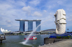 Merlion fountain stock photography