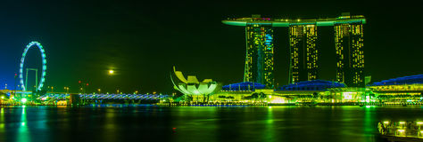 The Merlion fountain in front of the Marina Bay Stock Photography