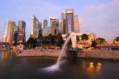 Merlion fountain in front of the Marina Bay Stock Image