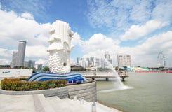 The Merlion fountain, Landmark of Singapore Stock Image