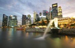 The Merlion fountain, Landmark of Singapore Stock Photography