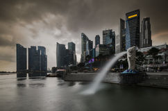 The Merlion fountain Royalty Free Stock Photo