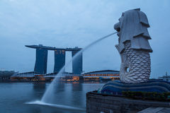 Merlion Fountain Royalty Free Stock Photos