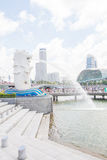 The Merlion fountain in Singapore Stock Images
