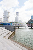The Merlion fountain in Singapore Royalty Free Stock Photo