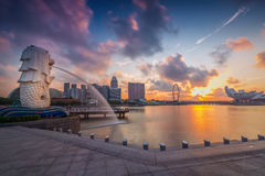 The Merlion fountain Stock Photography