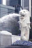 Merlion landmark of Singapore Royalty Free Stock Image