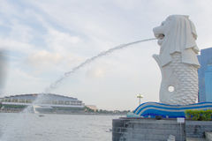 The Merlion in Marina bay Royalty Free Stock Photo