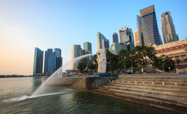 The Merlion at Marina Bay Royalty Free Stock Image