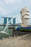 Merlion, mascot and national personification of Singapore Stock Images