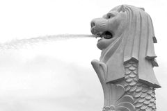 Merlion, mascot and national personification of Singapore Stock Photos