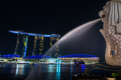 Merlion, a mascot and national personification Stock Photos