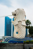 Merlion, a mascot and national personification of Singapore Stock Images