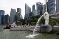 Merlion Singapore Marina Bay sightseeing Stock Image