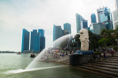 Merlion, a national personification of Singapore Stock Image