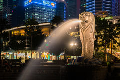 Merlion, a national personification of Singapore Stock Photography