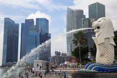 Merlion Park Stockfoto