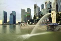 Merlion Park, Singapore Royalty Free Stock Photo