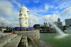 Merlion Park, Singapore. Merlion Park is located at One Fullerton, Singapore near the Central Business District (CBD) area of Singapore. This park is a popular Royalty Free Stock Photos