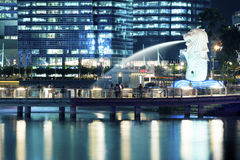 Merlion park in Singapore Royalty Free Stock Photos