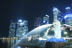 Merlion park in Singapore Royalty Free Stock Photography