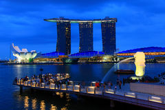 Merlion park Royalty Free Stock Photo
