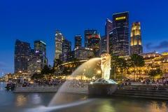 Merlion Park, Singapur Lizenzfreies Stockbild