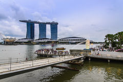 Merlion Park, Singapur Stockfotos