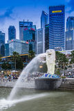 Merlion Park, Singapur Stockbild