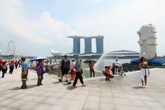 Merlion Park Singapur Lizenzfreies Stockbild