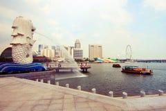 Merlion Park Singapur Stockfoto