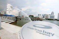 Merlion Park Singapur Lizenzfreie Stockfotos