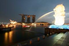 Merlion Park Singapur Stockbilder