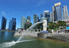 merlion parkowy Singapore Fotografia Royalty Free