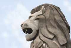 Merlion profile Stock Photography