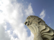 merlion sentosa新加坡雕象 免版税库存照片