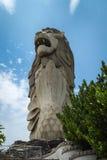 Merlion в Sentosa Стоковая Фотография