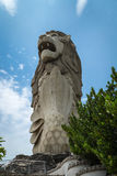 Merlion in Sentosa Stock Photography