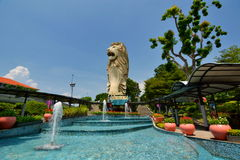Merlion. Sentosa Island. Singapore. Sentosa is a popular island resort in Singapore Royalty Free Stock Photography