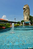 Merlion. Sentosa Island. Singapore Stock Photo