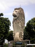 Merlion in Sentosa, Singapore Royalty Free Stock Photography