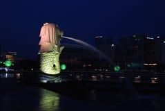 merlion singapore фонтана Стоковые Изображения