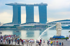 Merlion, Singapore immagine stock