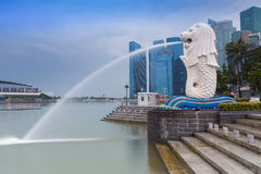 merlion singapore Royaltyfri Fotografi