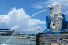 merlion singapore Arkivfoton