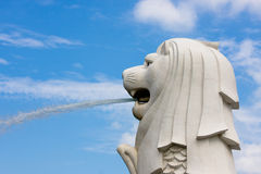 Merlion in Singapur Stockfotografie